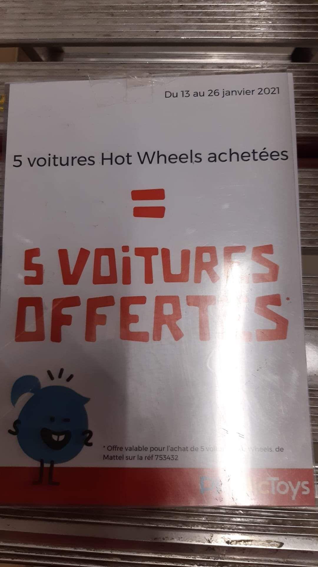 5 voitures hot wheels achetées =5 voitures offertes - Thillois (51)