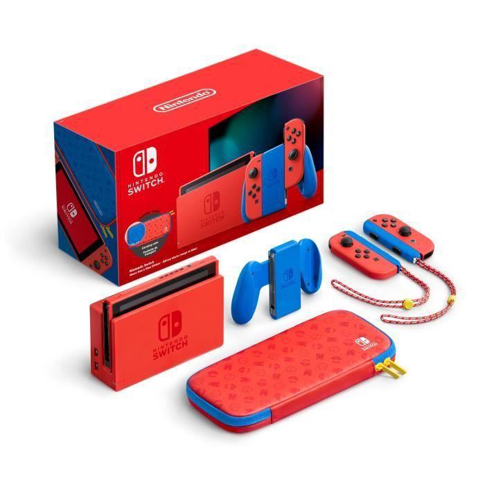 Pack Console Nintendo Switch Edition Limitée Mario Rouge et Bleu