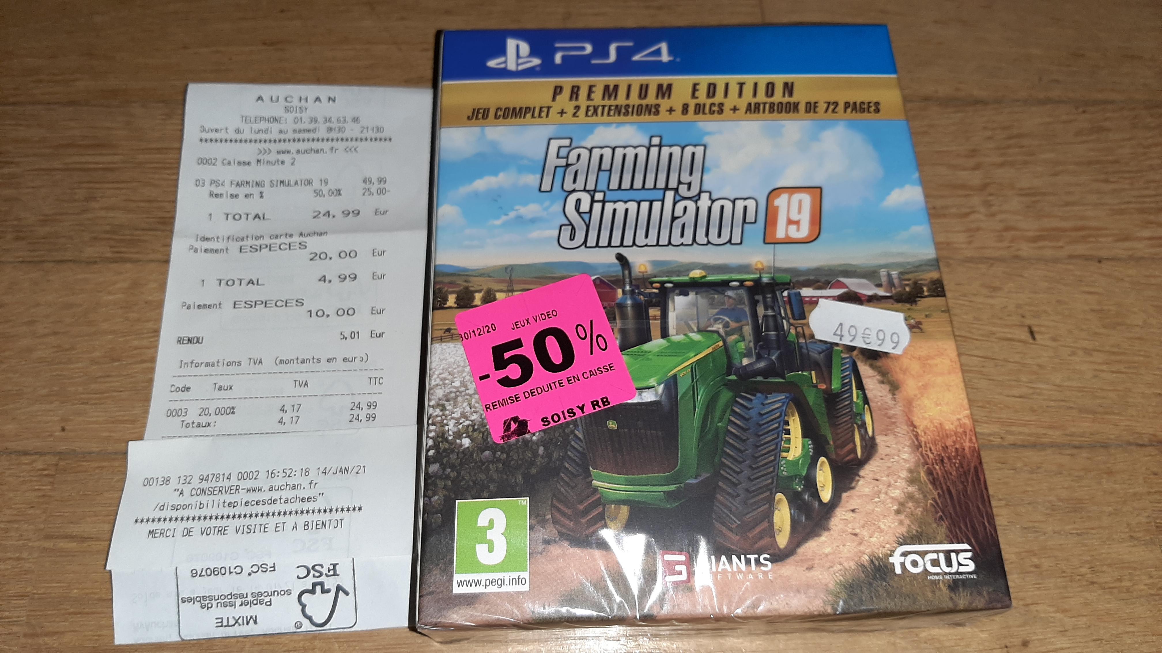 Farming Simulator 19 Premium Edition sur PS4 - Soisy-sous-Montmorency (95)