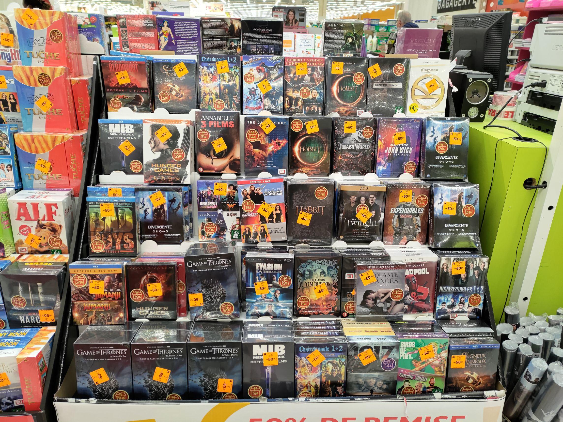 50% de réduction sur une sélection de Coffrets DVD et Blu-Ray - Osny (95)