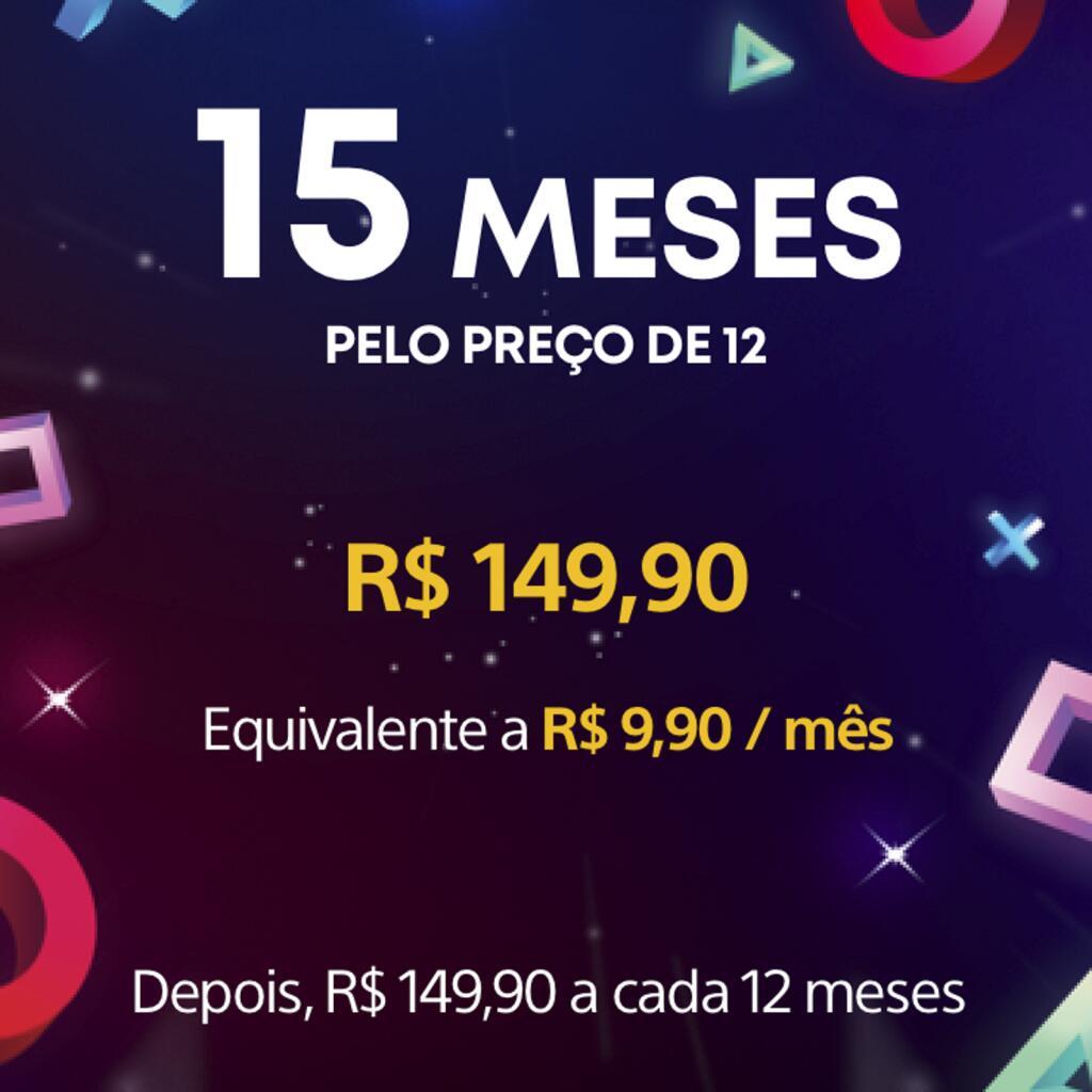 Abonnement de 15 mois au PlayStation Plus (dématérialisé, store Brésil)