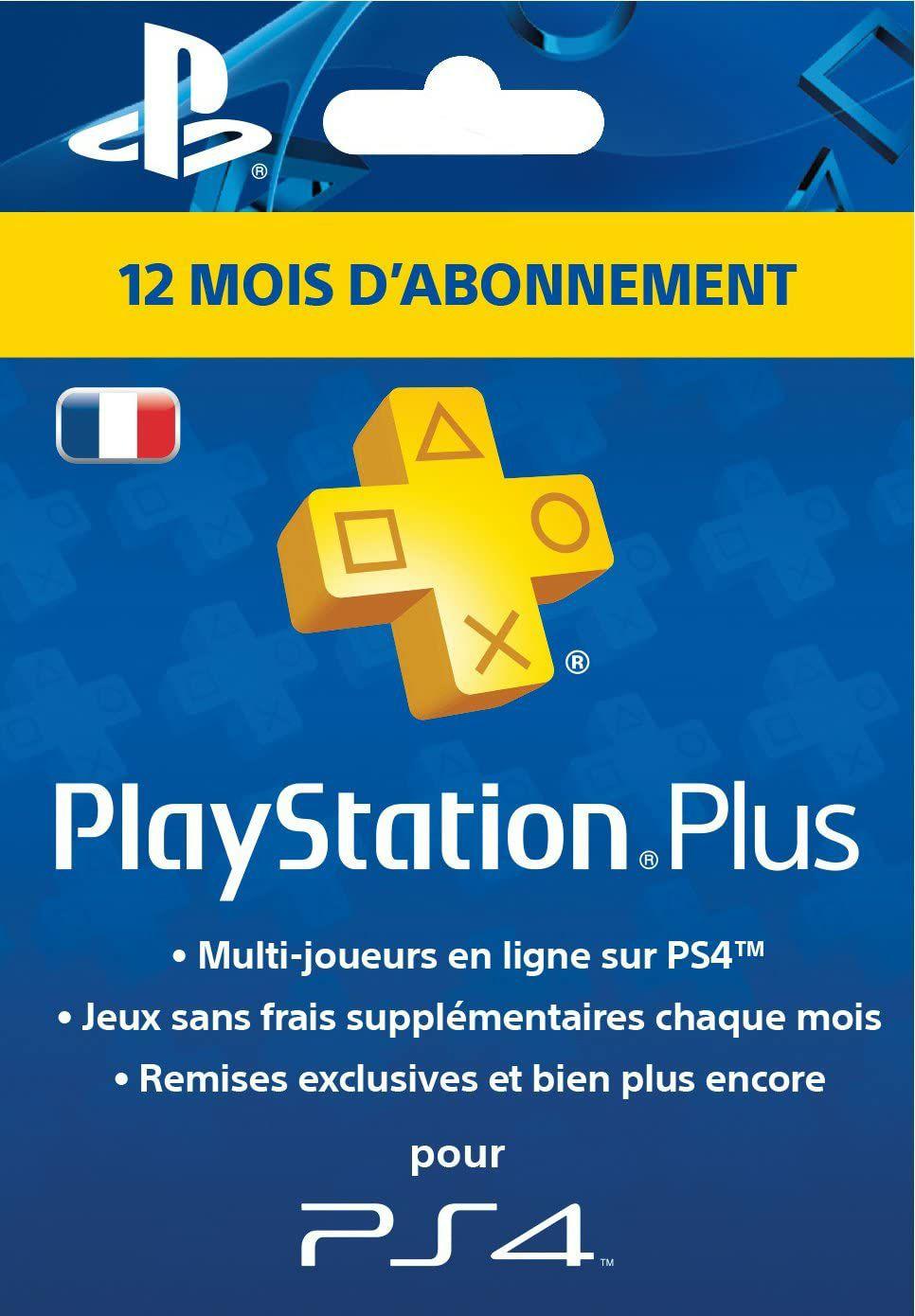 Abonnement de 12 mois au PlayStation Plus (Compte FR)