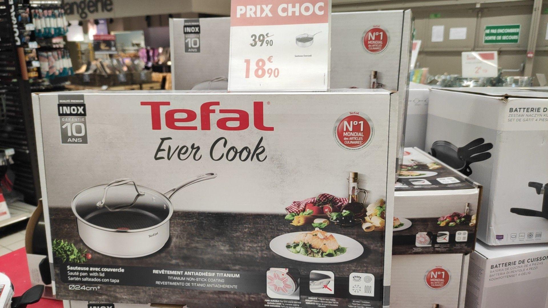 Sauteuse avec couvercle Tefal Ever Cook - 24cm, Argent (Tous feux dont induction) - Givors (69)