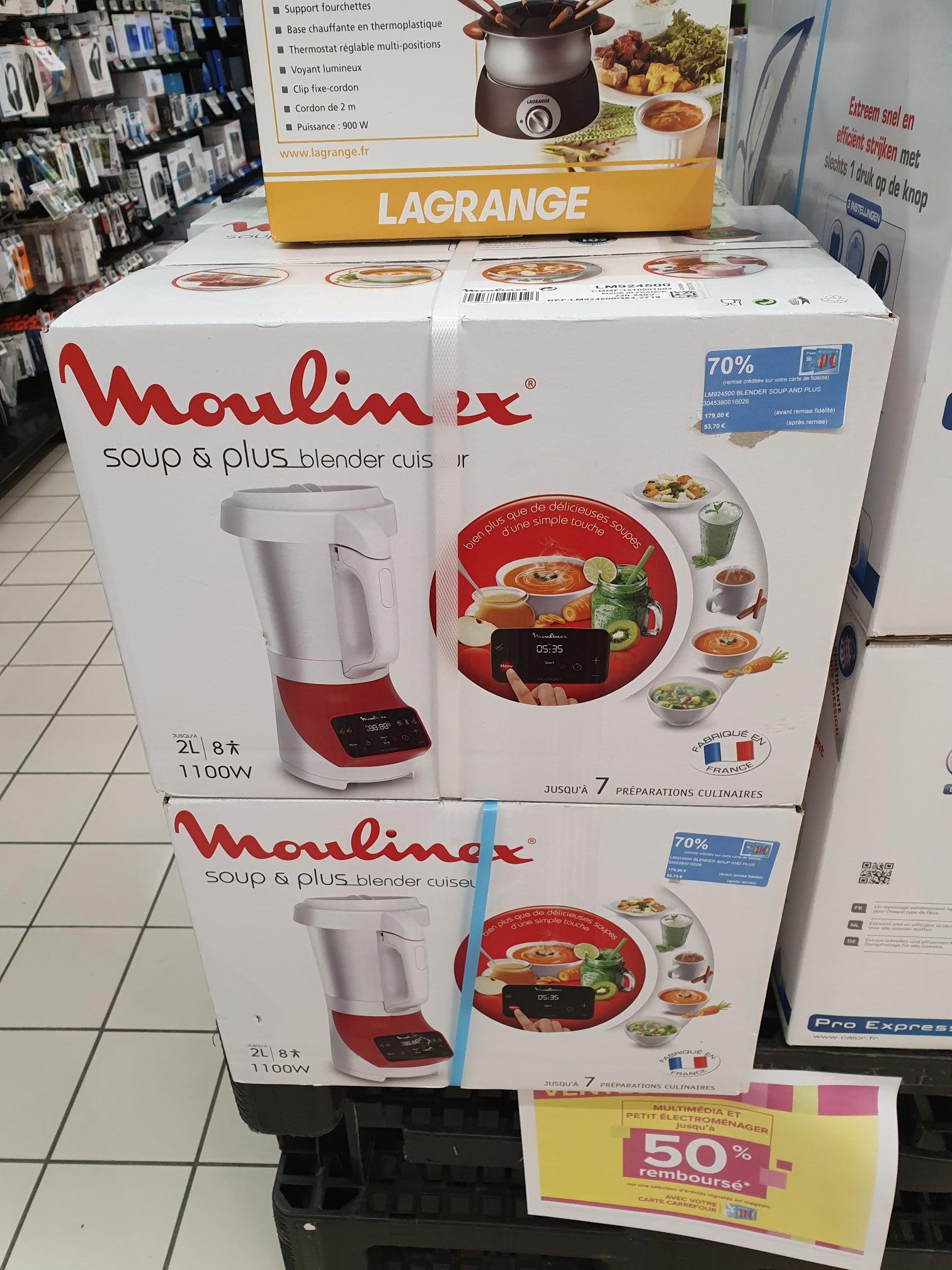 Jusqu'à -80% de remise fidélité sur une sélection de produits (Ex: Blender Moulinex Soup Maker via 125.30€ sur la carte) - Maubeuge 59