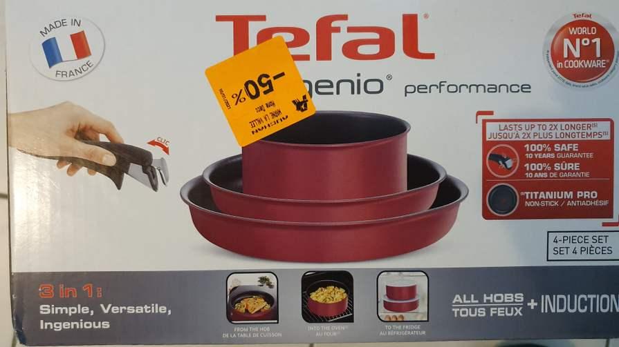 Set de cuisine Tefal ingenio performance - 4 pièces, Tous feux dont induction, Auchan Val d'europe (77)