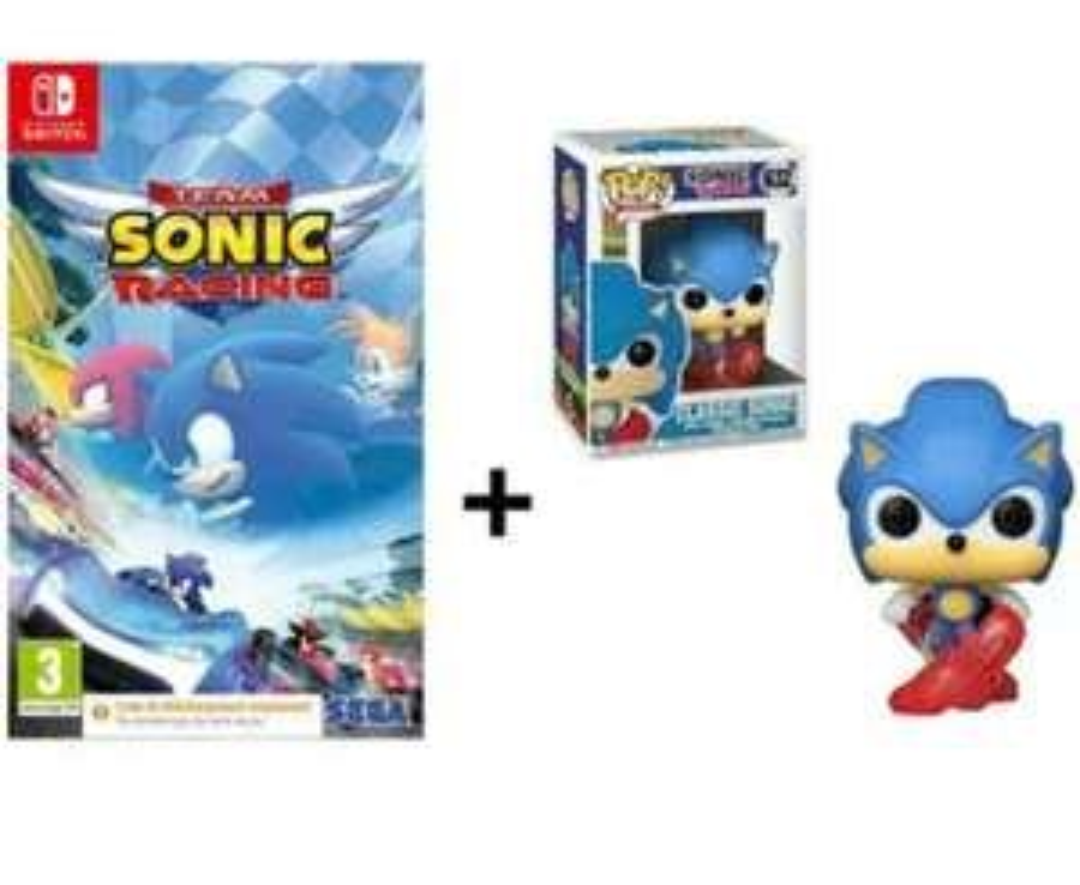 Jeu Team Sonic Racing sur Nintendo Switch (Dématérialisé) + Figurine Funko Pop! Games: Sonic 30th- Running Sonic