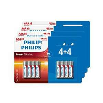 Lot de 32 Piles Philips AA ou AAA