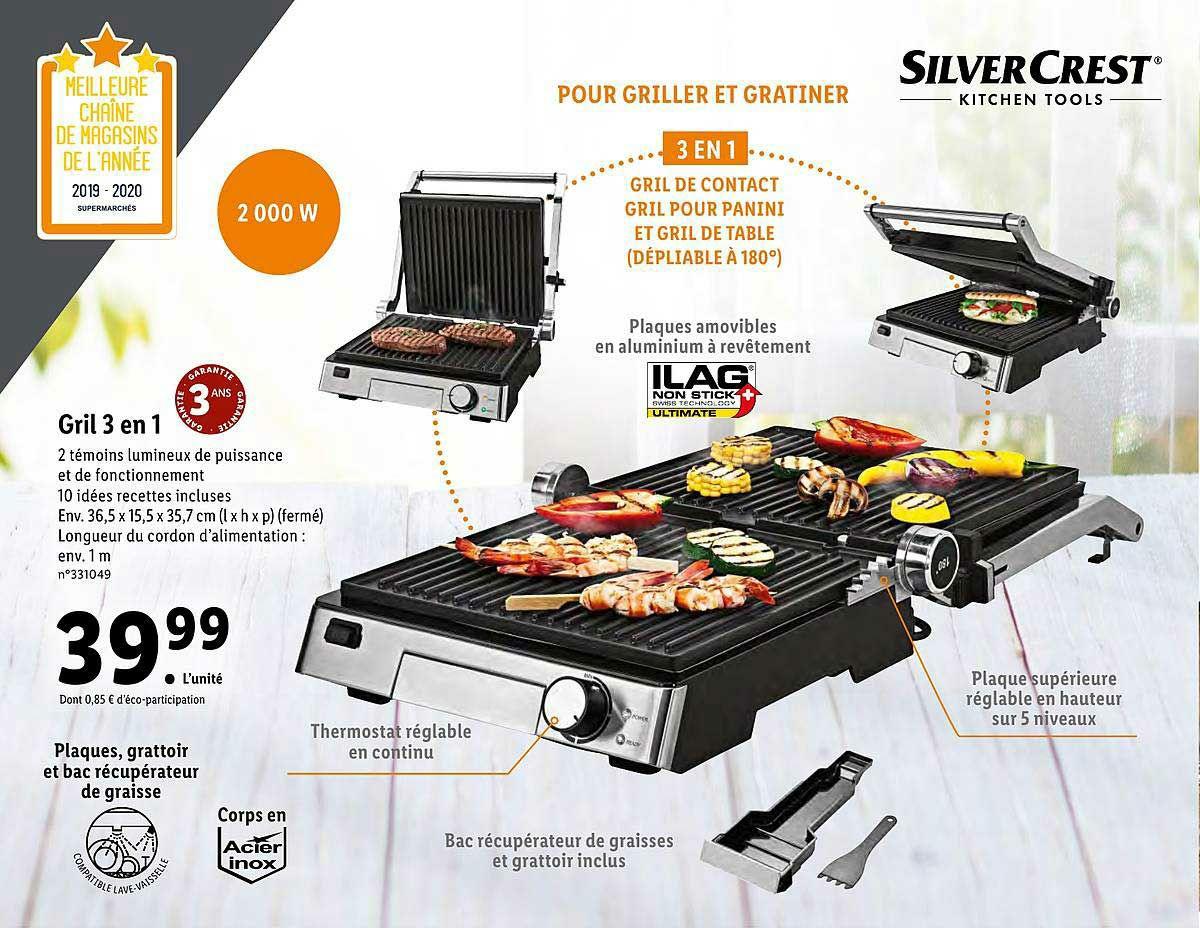 Grill 3 en 1 Silvercrest - 2000W