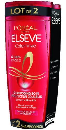 Lot de 2 Shampooings Elsève de l'Oréal Paris - 2 x 290 ml (Via 4.05€ sur la carte fidélité)