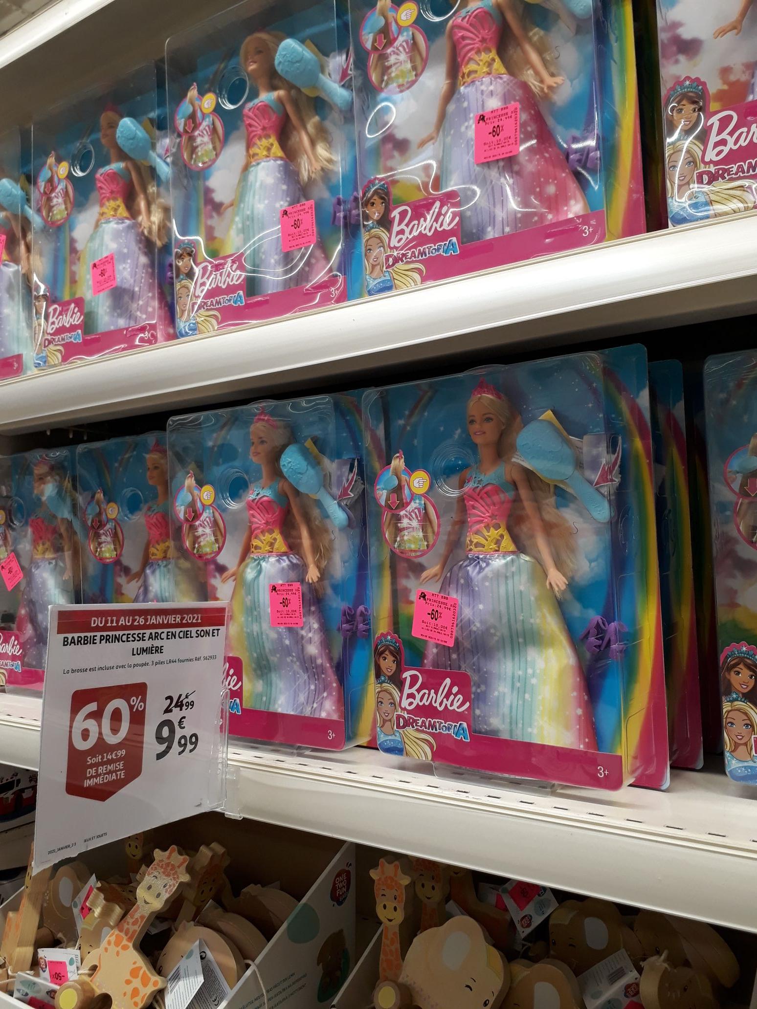 60% de réduction sur une Sélection de jouets - Ex : Barbie Dreamotopia - Avignon Nord (84)