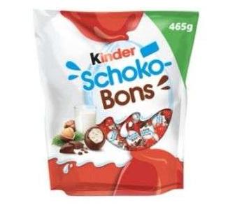 Paquet de bonbons chocolat au lait noisettes Kinder Schokobons - 465g (Via carte 1.65€ sur Carte fidélité)