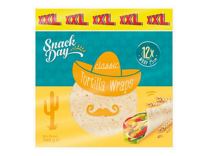 Paquet de 12 Tortilla Wraps XXL
