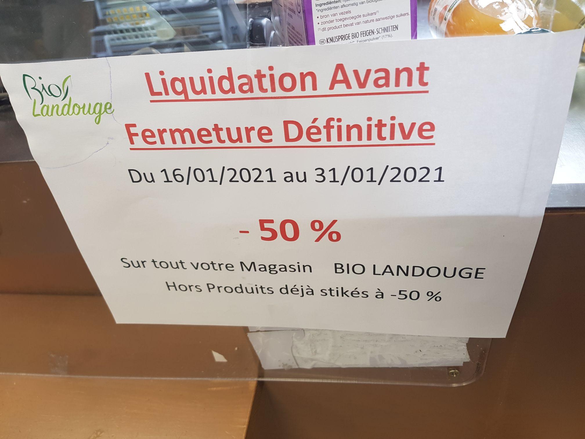 50% de remise sur tout le magasin - à Bio Landouge (Limoges 87)