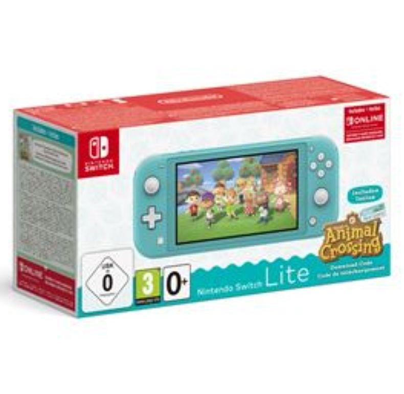 Console Nintendo Switch Lite (Corail ou Rose) + Animal Crossing New Horizons + Abonnement Online 3 mois