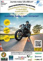 Stage Moto/Scooter (jusqu'à 500cm3) Maniabilité et trajectoire, Au printemps, roulons prudents : c'est important Gratuit - Toulouse (31)