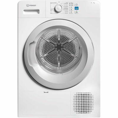 Sèche linge Indesit YTM0871FR - 7 Kg, Pompe à chaleur, Blanc