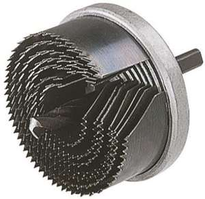 Scie cloche Wolfcraft 7l p33 diamètre 25/32/38/45/50/56/62 mm