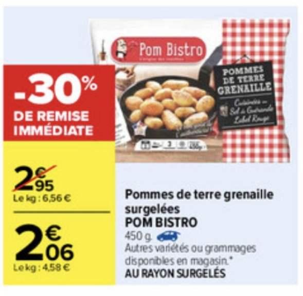 1 Paquet Pomme de terre grenaille surgelées Pom Bistro - 450g (via Shopmium)