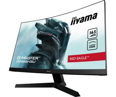 """Ecran PC incurvé 24"""" iiyama G2466HSU-B1 - FHD, 165 Hz, Dalle VA, 1 ms, FreeSync"""
