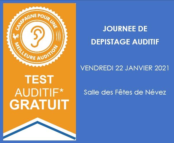 Dépistage auditif gratuit - Névez (29)