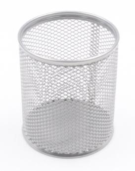Pot à crayons grillagé en métal - 9.50 x 8 cm