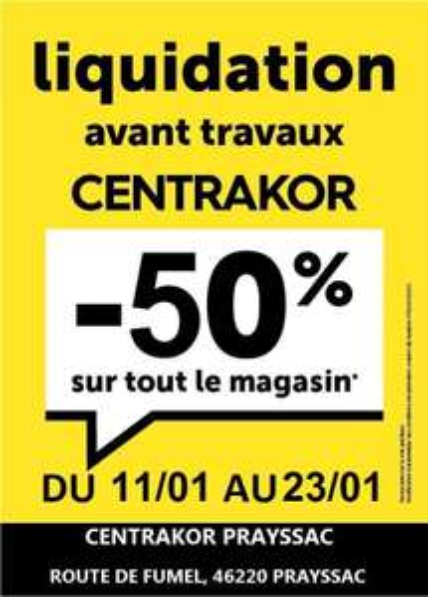 50% de réduction sur tout le site (Liquidation avant travaux) - Prayssac (46)