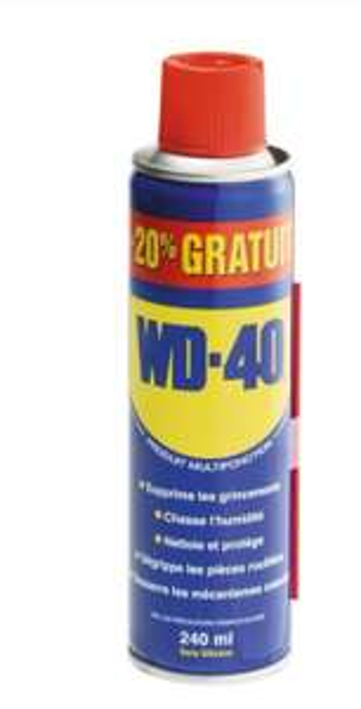 Lubrifiant dégrippant multi-usage WD40 - 240ml