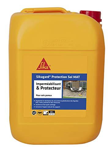 Imperméabilisant incolore mat pour sols poreux Sikagard Protection Sol - 20L
