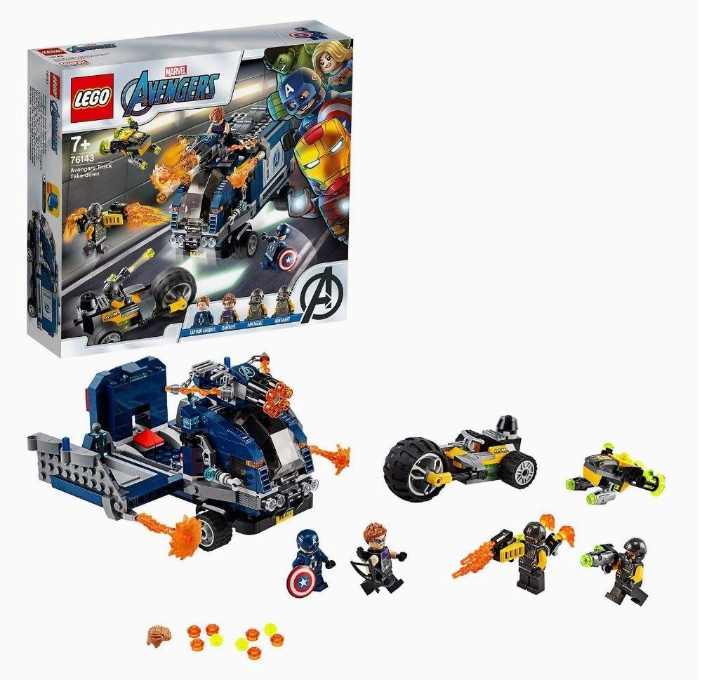Lego Marvel Super Heroes 76143 - L'attaque Du Camion Des Avengers