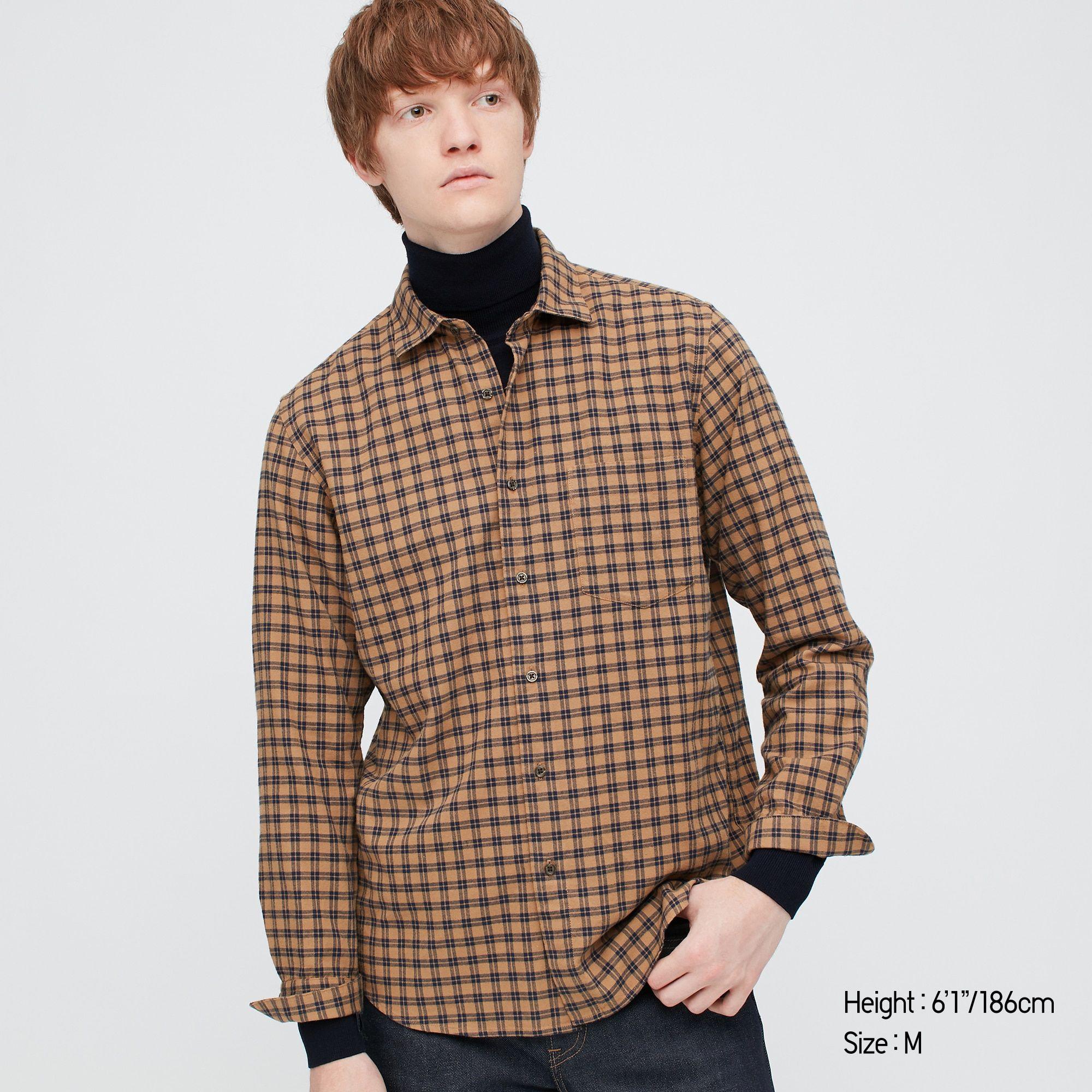 Chemise à carreaux en flanelle pour Homme - 2 Coloris, Tailles XS à M