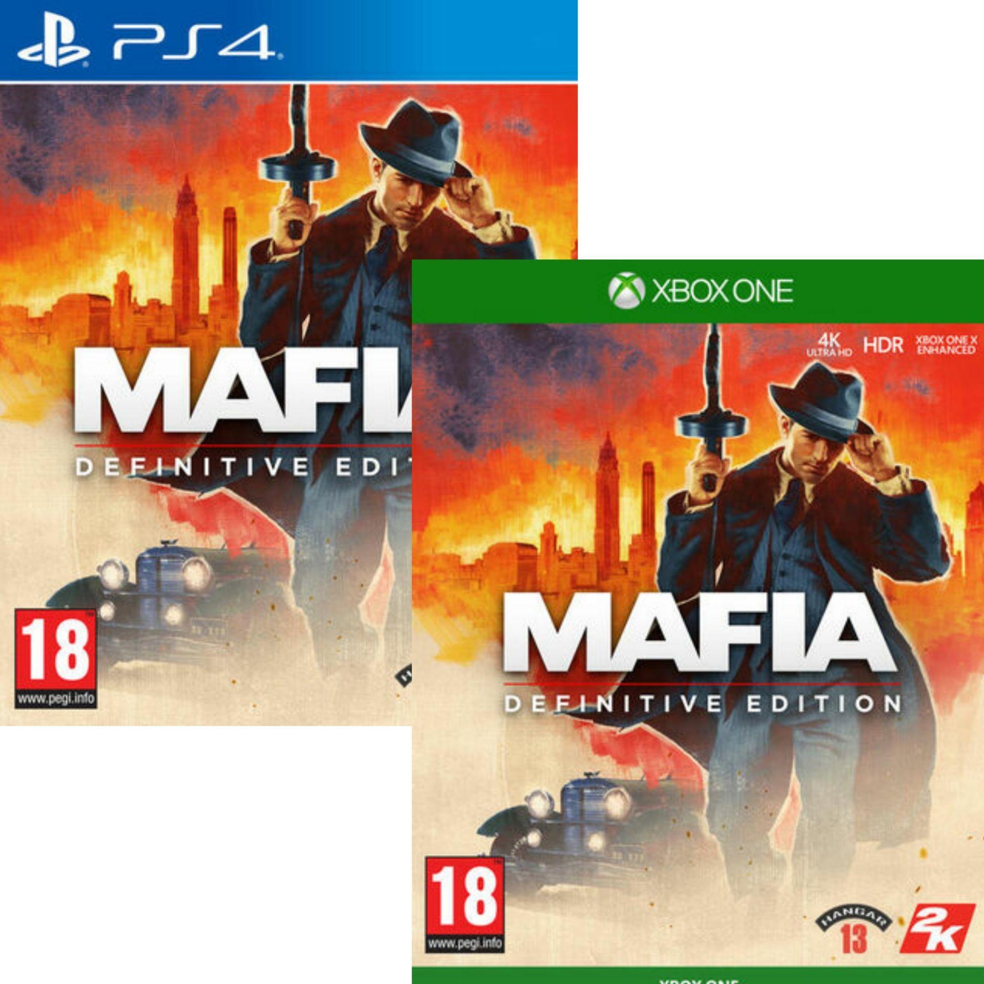 Mafia Definitive Edition sur PS4 & Xbox One (Mafia Trilogy sur PS4, Xbox One à 29.99€ / PC à 20,99€)