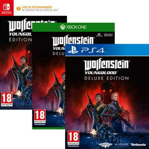 Wolfenstein Youngblood Deluxe Edition sur PS4, Xbox One et Switch / PC à 4,99€