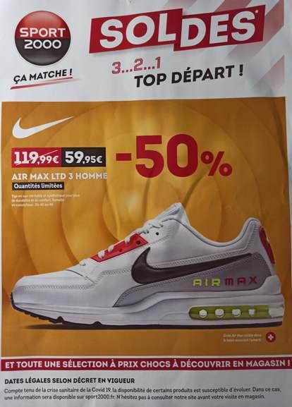 Baskets basses Nike Air Max Ltd 3 pour Homme - Tailles 40 à 46 (Magasins participants)