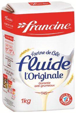 Paquet de farine de blé fluide Francine L'Originale T45 - 1 kg (via 0.26€ sur la carte de fidélité)