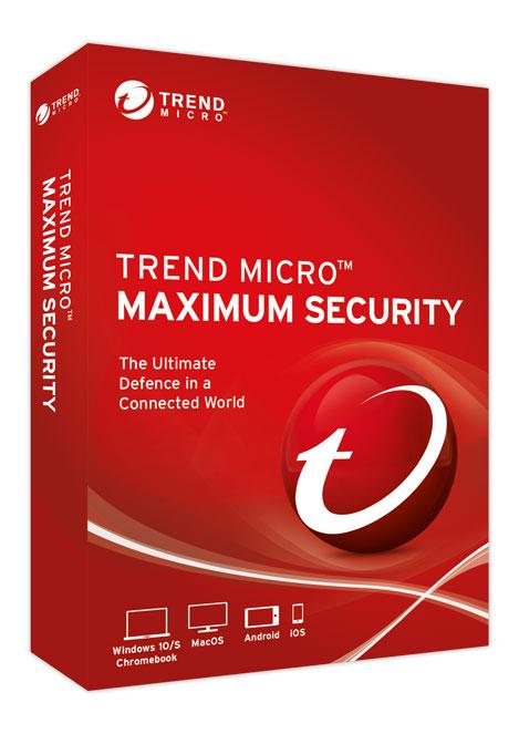 Logiciel antivirus Trend Micro Maximum Security gratuit sur PC - 6 mois, 1 appareil (Dématérialisé)