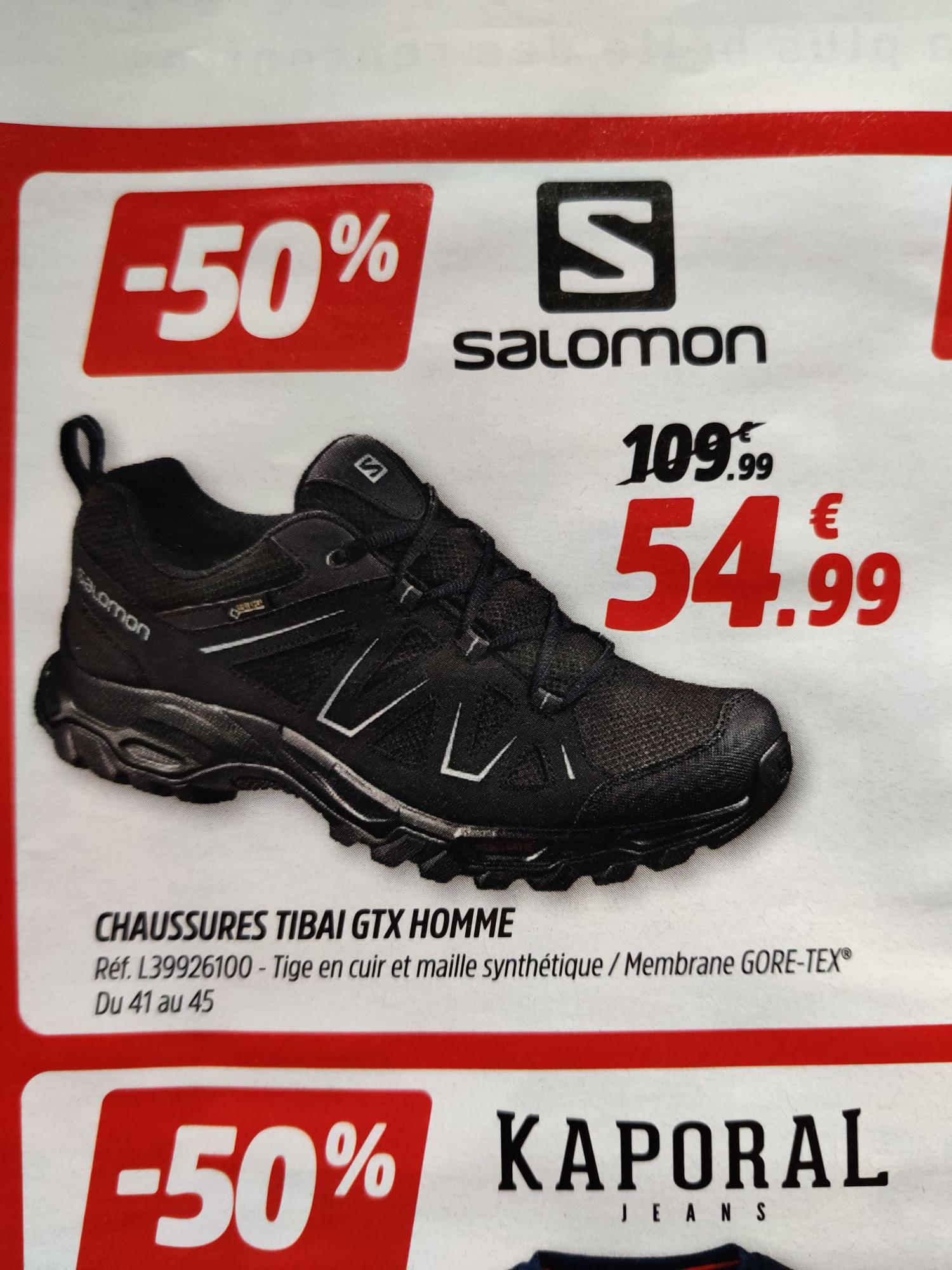 Chaussures de randonnée SalomonTibai GTX Gore-Tex (du 41 au 45)