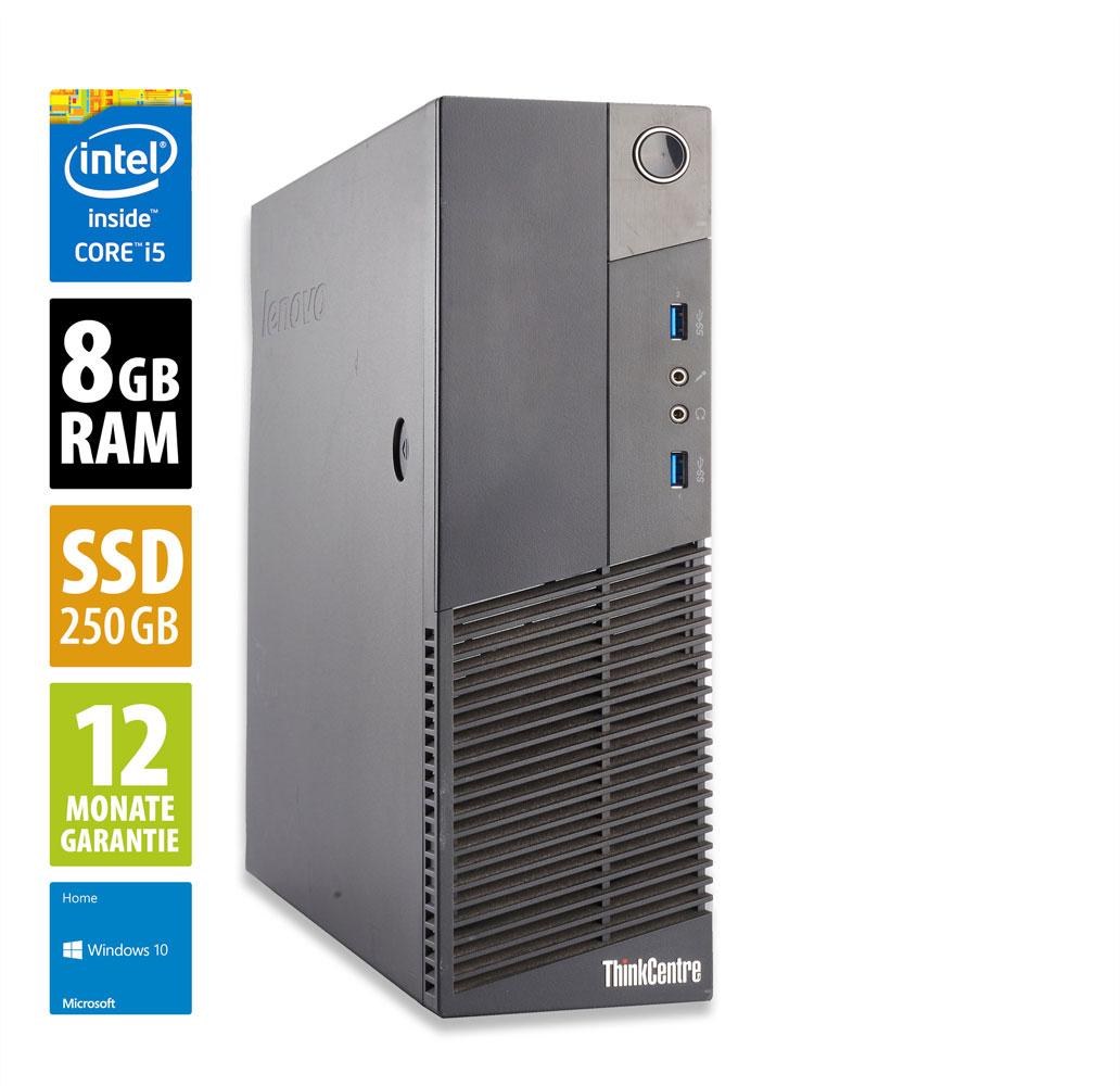 Ordinateur Lenovo ThinkCentre M93p SFF (i5-4570, 8 Go de RAM, 250 Go en SSD, Windows 10) - reconditionné grade A