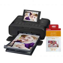 Imprimante Photo Canon Selphy CP1300 noir + Kit papier RP-108