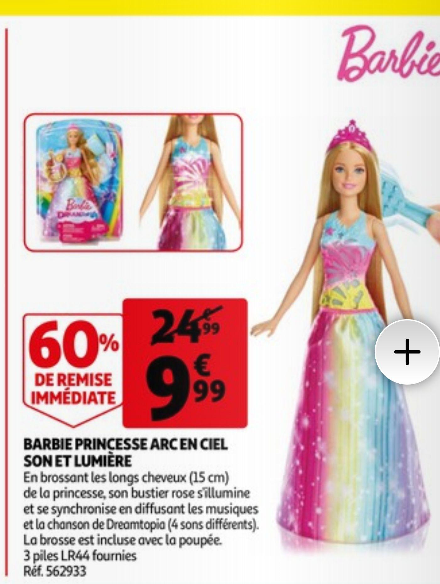 Poupée Barbie Princesse Arc-en-Ciel Son & Lumière