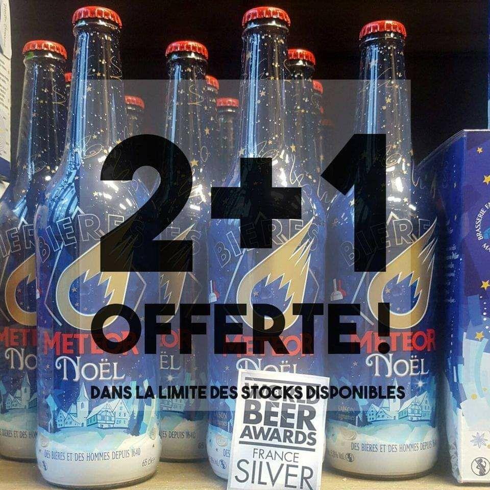 2 achetés = un offert sur le Coffret 2 verres une bouteille de 65cl ou la Meteor de Noël 65cl - boutique.brasserie-meteor.fr