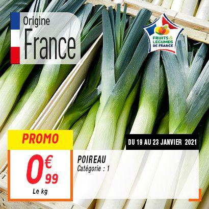 Poireau (le kilo) - Catégorie 1, Origine France