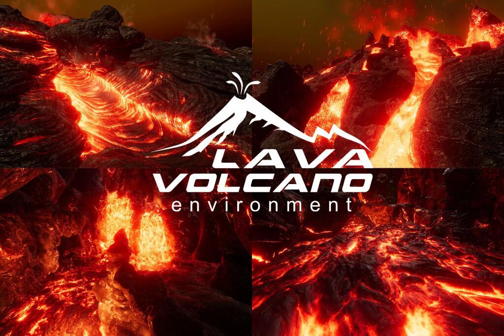 Unity Asset - Lava & Volcano Environment 2019 (Dématérialisé)