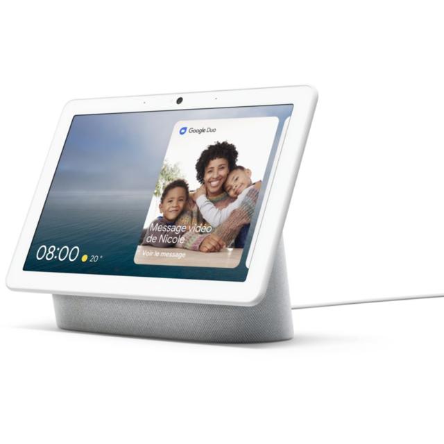 "Enceinte connectée avec écran 10"" Google Nest Hub Max - Galet"