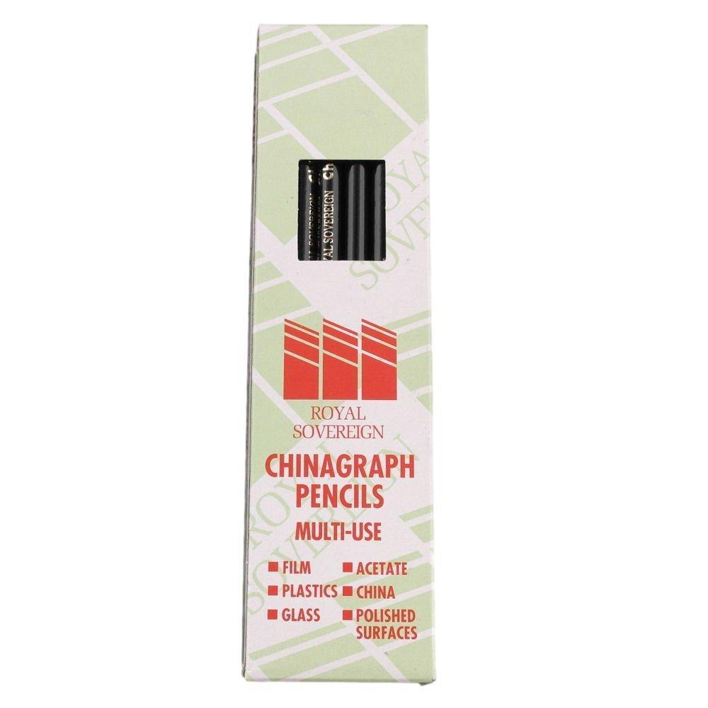 [Panier Plus] Boîte de 12 crayons Noir Chinagraph