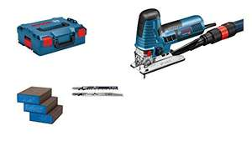 Scie sauteuse Bosch Professionnal GST 160 CE (avec adaptateur d'aspiration, capot de protection, 3 lames, 3 éponges, dans une L-Boxx 136)
