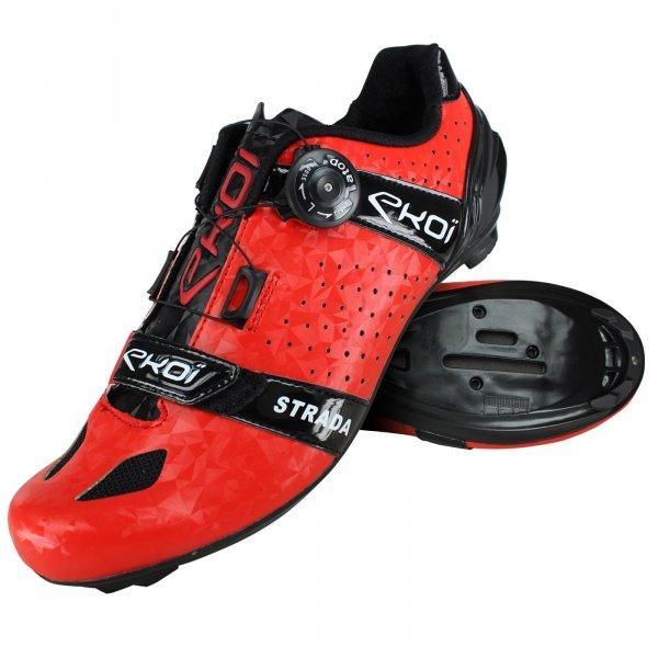 Chaussures de route Ekoi Strada Cristal rouge - Tailles 39 à 46