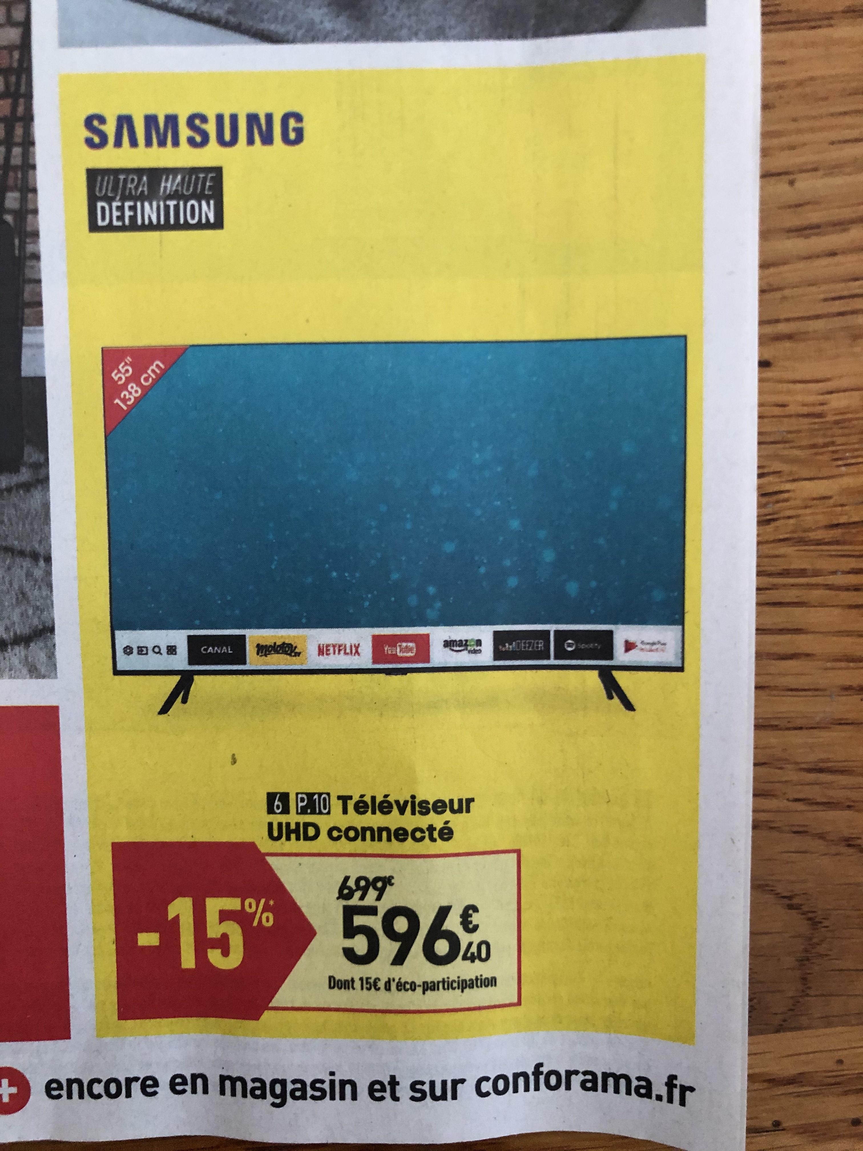 """Sélection d'articles en promotion - Ex : TV 55"""" Samsung UE55TU8005 2020 (4K UHD, Smart TV)"""