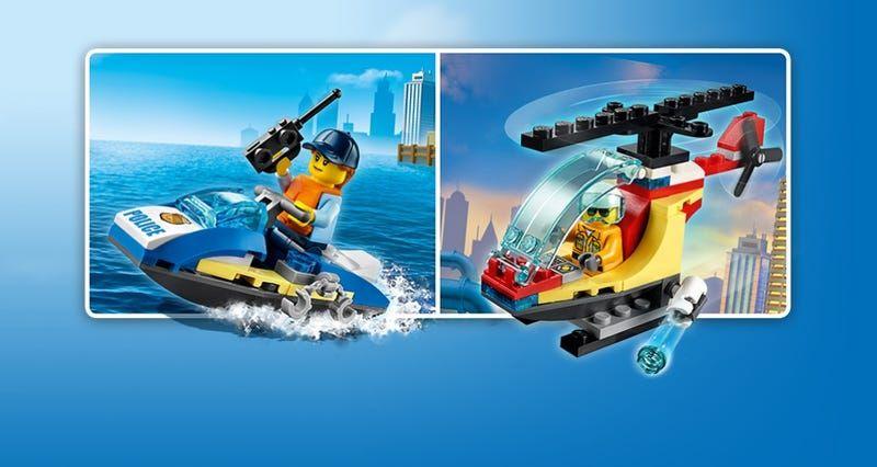 Un jouet Lego City L'hélicoptère des pompiers ou Le jet-ski de police offert dès 40€ d'achat