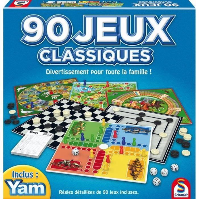 Coffret de 90 Jeux Classiques SCHMIDT