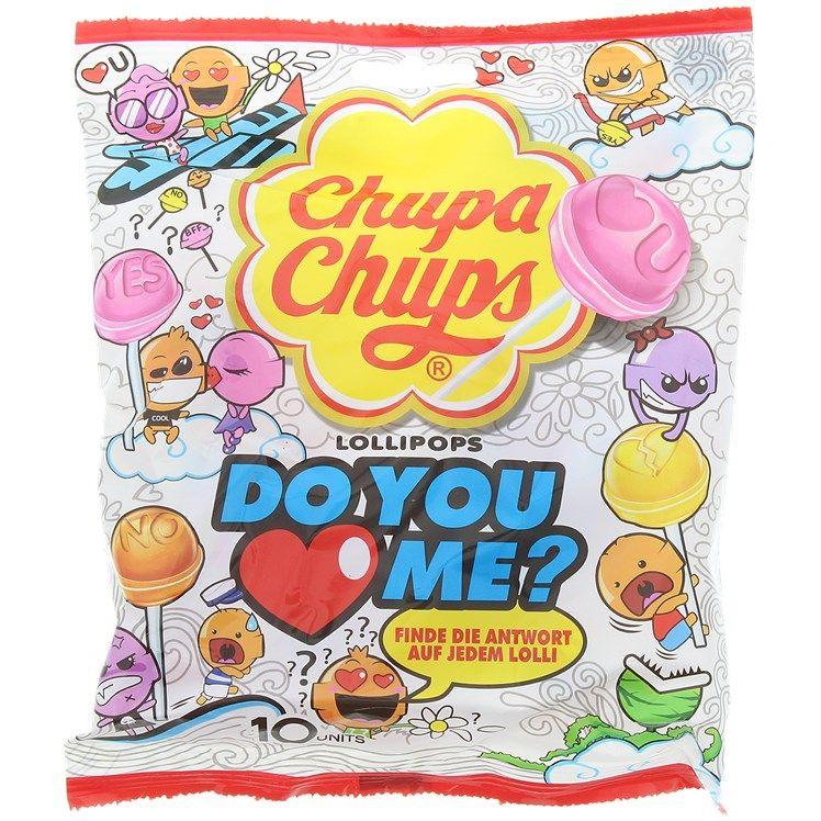 Sachet de sucettes Chupa Chups Do you love me? - 120 g